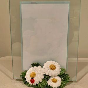 🐞Carr Spring Hill glass- Daisy photo frame